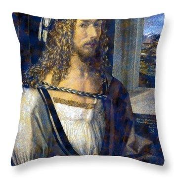 Self Portrait Throw Pillow by Albrecht Durer