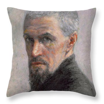Self Portrait Throw Pillow by Gustave Caillebotte