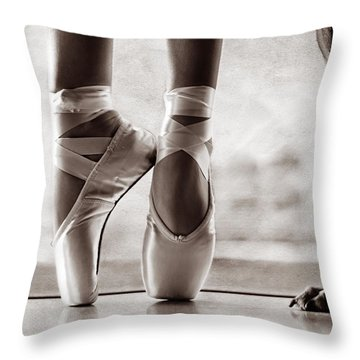 Shall We Dance Throw Pillow by Laura Fasulo