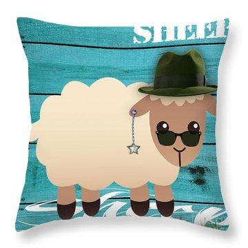Sheep Collection Throw Pillow