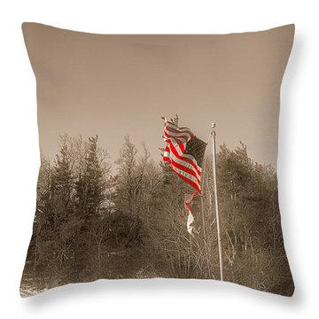 Shining Through Throw Pillow by J Riley Johnson