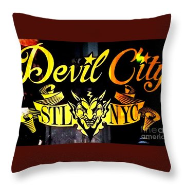 Throw Pillow featuring the photograph Shopping In The Loop by Kelly Awad