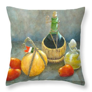 Sicilian Table Throw Pillow by Pamela Allegretto