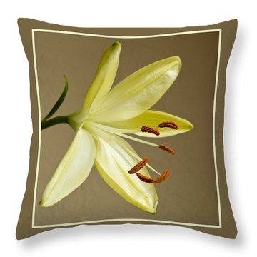 Simple Lily Throw Pillow by Geraldine Alexander
