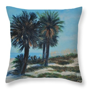 Singleton Beach Throw Pillow