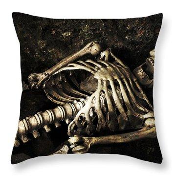 Skeleton  Throw Pillow by Amanda Elwell