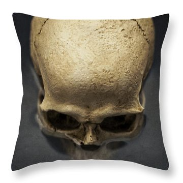 Skull  Throw Pillow by Edward Fielding