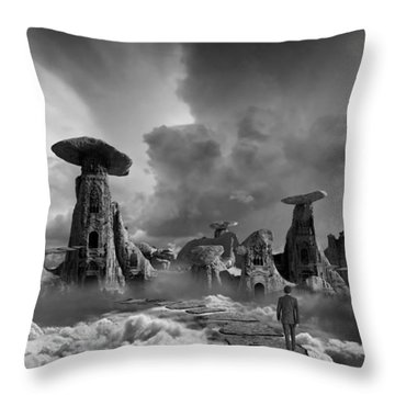 Sky City Casino Throw Pillow