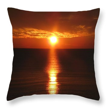 Throw Pillow featuring the photograph Sky On Fire by Christiane Schulze Art And Photography