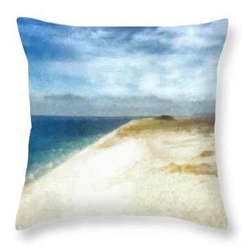 Sleeping Bear Dunes National Lakeshore Throw Pillow by Michelle Calkins