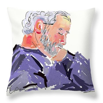 Sleepy Joe Throw Pillow