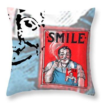 Smile Throw Pillow by Edward Fielding