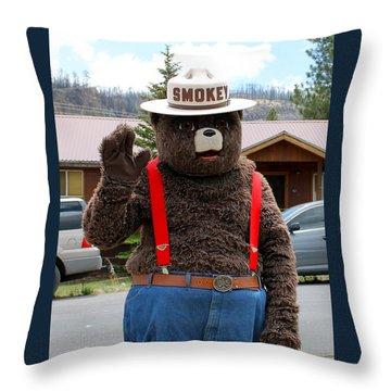 Smokey The Bear Throw Pillow
