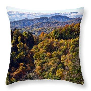 Smoky Mountain Color II Throw Pillow by Douglas Stucky