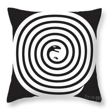 2 Snakes Illusion Throw Pillow