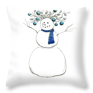 Snow Attire Throw Pillow by Katherine Miller