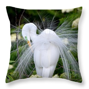So Pretty Throw Pillow by Jodi Terracina
