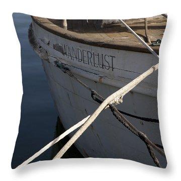 S.o. Wanderlust Throw Pillow by Amanda Barcon