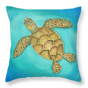 Solo Swimmer Throw Pillow