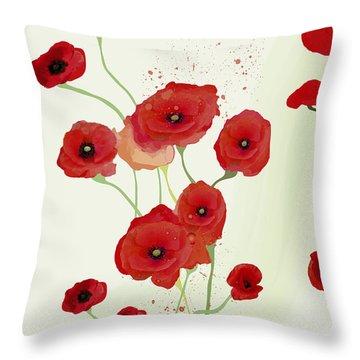 Sonata Of Poppies Throw Pillow