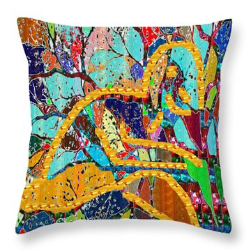 Soul Of A Tree Abstract  Navinjoshi  Rights Managed Images Graphic Design Is A Strategic Art Meaning Throw Pillow by Navin Joshi