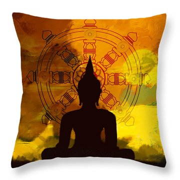 South Asian Art Throw Pillow by Corporate Art Task Force