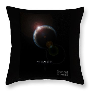 Space Throw Pillow by Phil Perkins