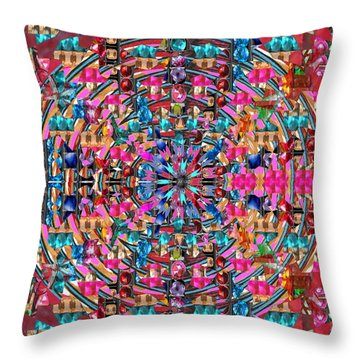 Sparkle  Chakra Format Art  Navinjoshi  Rights Managed Images Graphic Design Is A Strategic Art Mean Throw Pillow by Navin Joshi