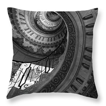 Spiral Staircase Throw Pillow by Chevy Fleet