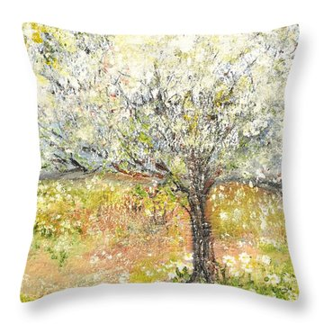 Spring Throw Pillow by Evelina Popilian