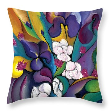 Spring Symphonia  Throw Pillow by Tiffany Davis-Rustam