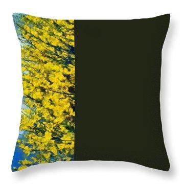 Spring Wild Flowers Throw Pillow by George Atsametakis
