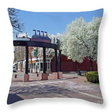 Springtime Corning Ny 4 Throw Pillow
