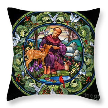 St. Francis Of Assisi Throw Pillow