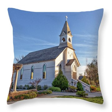 Throw Pillow featuring the photograph St. Mary's Chapel by Jim Thompson
