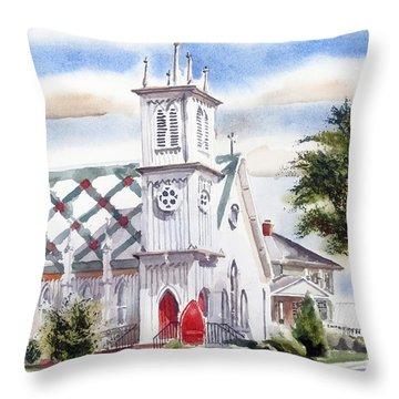 St Pauls Episcopal Church  Throw Pillow