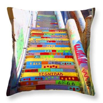 Stairway To Heaven Valparaiso  Chile Throw Pillow