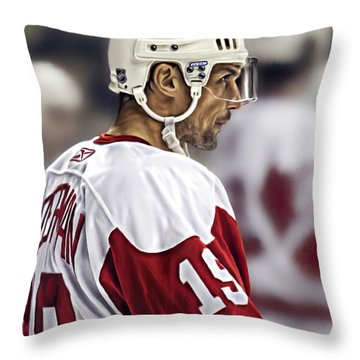 Steve Yzerman Throw Pillow by Don Olea