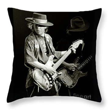 Stevie Ray Vaughan 1984 Throw Pillow