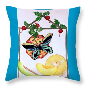 Still Life With Moth #3 Throw Pillow