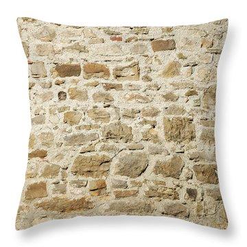Stone Wall Throw Pillow by Matthias Hauser