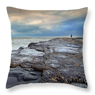 Storm Blowing Out Throw Pillow by Geoff Crego