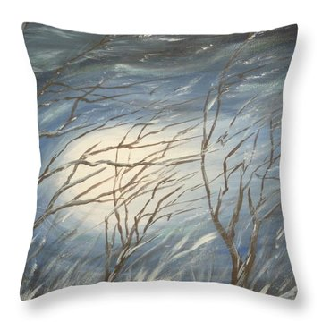 Storm  Throw Pillow by Irina Astley