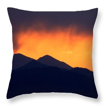 Throw Pillow featuring the photograph Stormy Sunset by Ian Middleton
