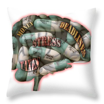 Stress Throw Pillow