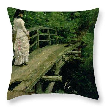 Summer Landscape Throw Pillow by Ilya Efimovich Repin
