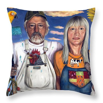 Sunday Morning Throw Pillow