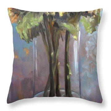 Sunflower Bouquet Throw Pillow by Donna Tuten