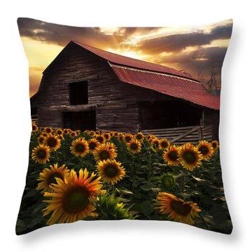 Sunflower Farm Throw Pillow