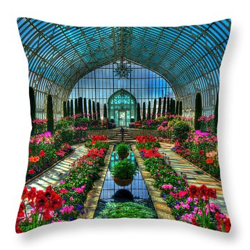 Sunken Garden Como Conservatory Throw Pillow